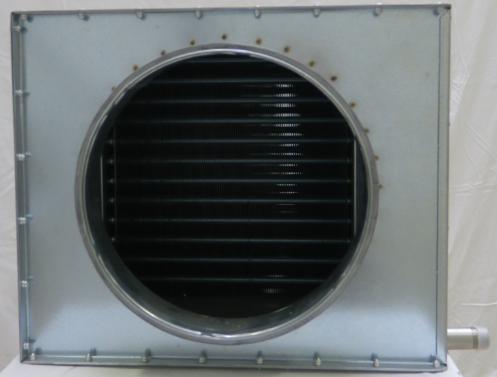 Kanaalverwarmer met ronde aansluiting