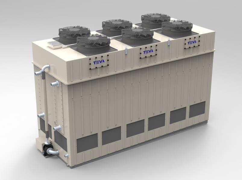 Verdampingscondensor met EC ventilatoren